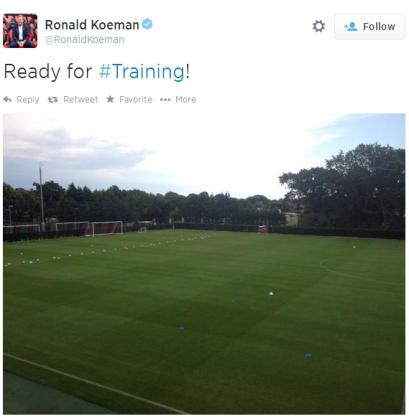 Koeman Tweet