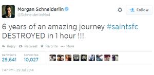 Schneiderlin Tweet